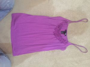 H&M Purple Embellished Cami Tank Top. Size S