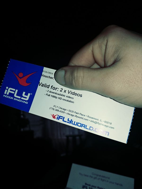 Ifly tickets tickets in joliet il offerup ifly tickets reheart Images