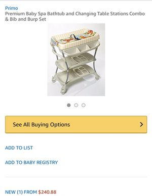 Baby spa bath tub & Changing table station + newborn to toddler clothes