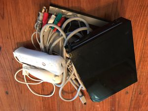 Black Nintendo Wii with Wiimote