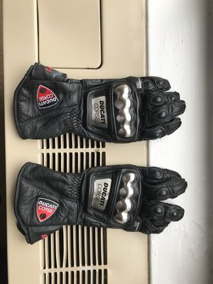 Ducati Corse Motorcycle Leather Gloves Size L for $75 or Best Offer