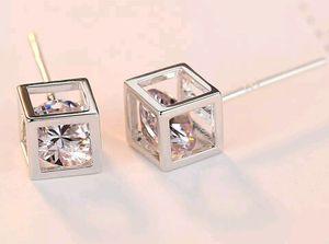 Floating Cube Earrings