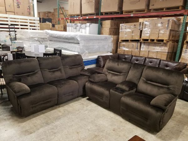 New Ashley Furniture Reclining Sofa And Love Seat Tax Included Delivery  available. New Ashley Furniture Reclining Sofa And Love Seat Tax Included