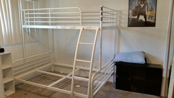 Ikea Tromso Bunk Bed Twin Over Full Metal Frame Only