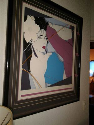 Large Nagel in original double matted and ready to hang