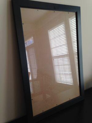 Black frame w/ glass, 23 x 33
