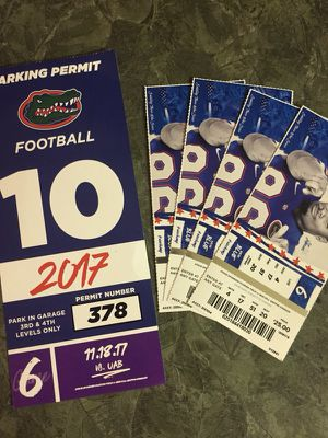 Gators tickets for Saturday 11/18/17