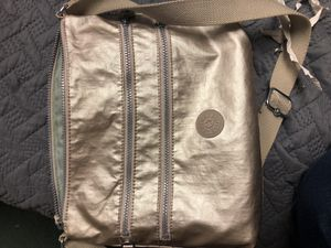 Kipling silver crossbody purse