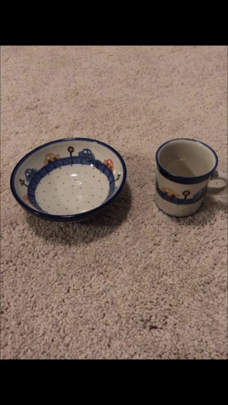 Kids cup and bowl