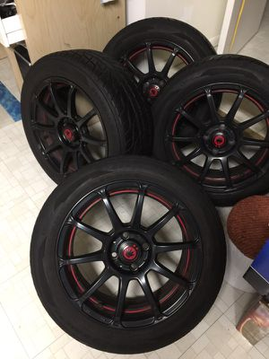 16x7 Konig Wheels 4x100 Tires Civic Miata