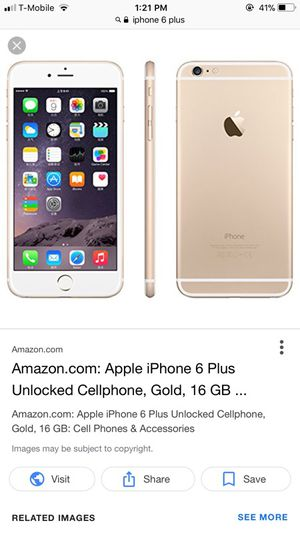 Gold iphone 6+ unlocked for sale or ill trade u 6+ an 200$ for 7,7+