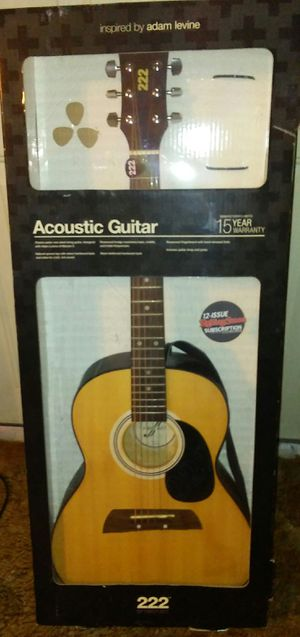 222 First Act acoustic guitar
