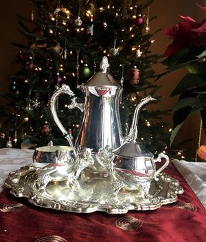 Sterling Silver Plated Coffee Set