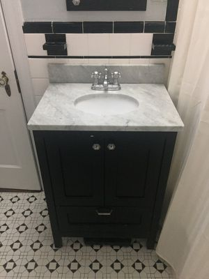 Bathroom Vanity + Mirror + Light