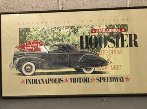 Professionally framed car posters. Great for man cave.