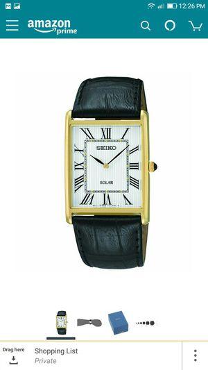 Brand New Authentic Seiko Men's SUP880 Analog Display Japanese Quartz Black Watch