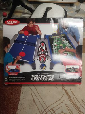 Table tennis and fling football