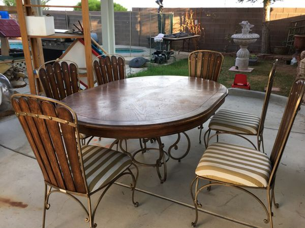 6 Wooden Seats Dining Table Appliances In Las Vegas