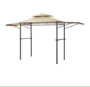 Mainstays grill gazebo with adjustable awning 8x4ft