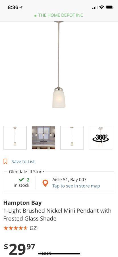 Hampton bay pendant lights household in glendale az offerup hampton bay pendant lights aloadofball Images