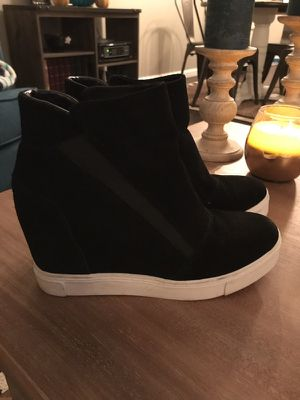 Steve Madden Leather Wedge Sneakers (8)