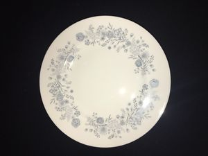 Wedgewood Belle Fleur China. Service for 8+ gravy boat, large platter and covered vegetable dish.