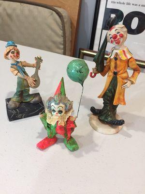 3 vintage clowns