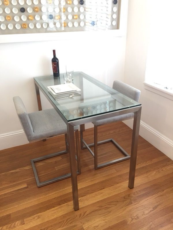 Room and Board Parsons Counter Table & Lira Counter Stools ...