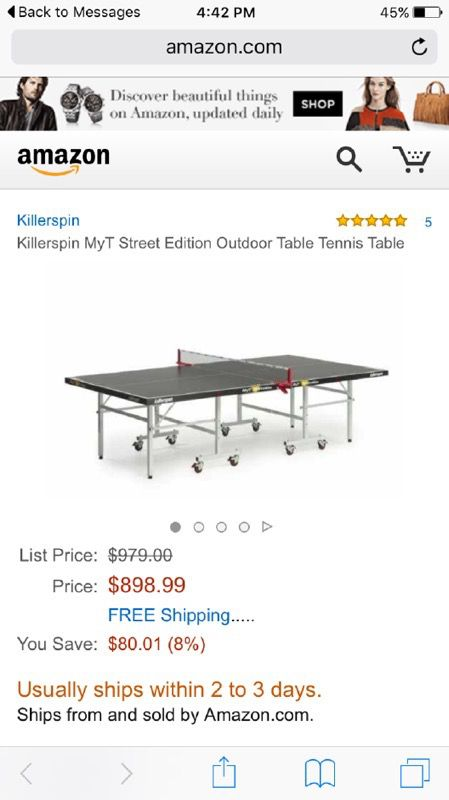 Weatherproof Ping Pong Table Killerspin ping pong table ( General ) in Chicago, IL - OfferUp