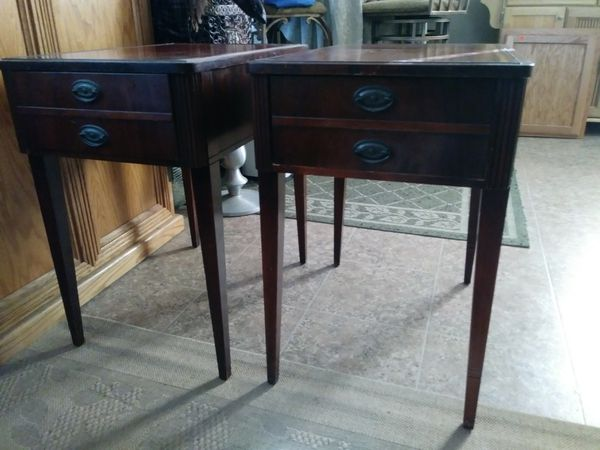 Table Antique Leather Top End Tables Antiques in Bakersfield