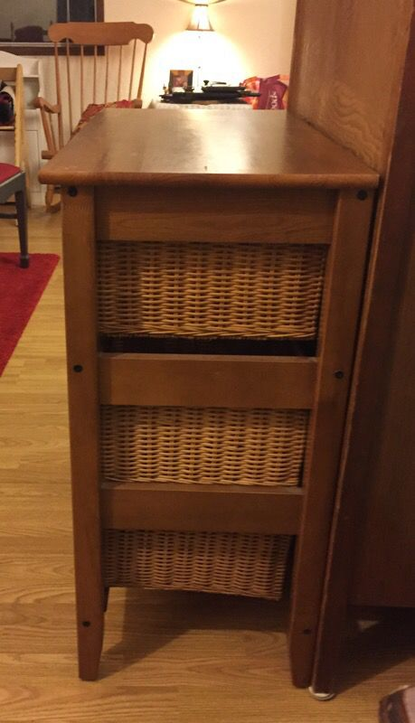 6 drawer wicker wood dresser freshly stained great for Furniture edmonds wa