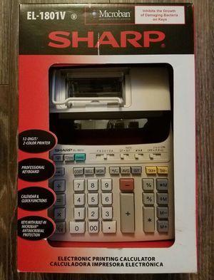 sharp el 1801v. sharp el-1801v portable 12-digit 2-color serial printing calculator el 1801v