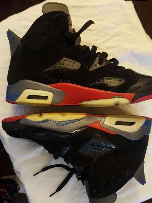 new concept fe15c 0ea54 NIKE AIR JORDAN 6 VI RETRO Detroit Pistons Black Red (Clothing   Shoes) in  Merced, CA