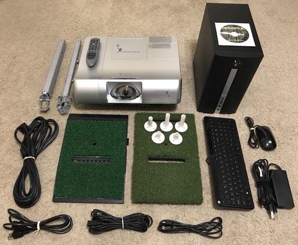 OPTISHOT 2 Golf Simulator w/ Projector, Computer, Mats ...