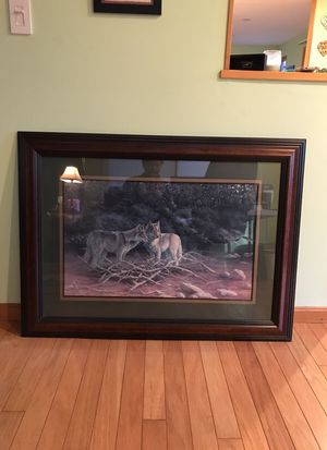 Large framed wildlife print