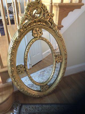 Stunning Egyptian Golden Mirror