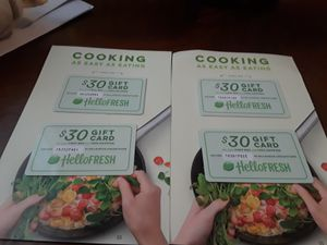 I have 4 hello fresh coupon for 30 dollars of and 3 naked wines 100 dollars voucher