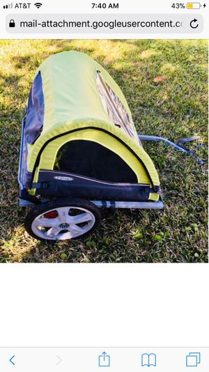 InStep Take 2 Double Bicycle Trailer - Green Grey