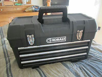 Kobalt  Drawer Plastic Metal Portable Chest Tool Box