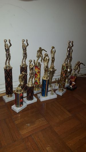 10 Basketball Trophies