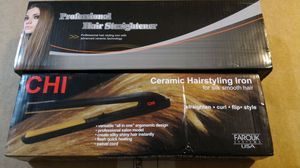 Hair care set iron and brush