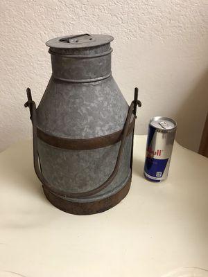 Vintage Metal Milk Can