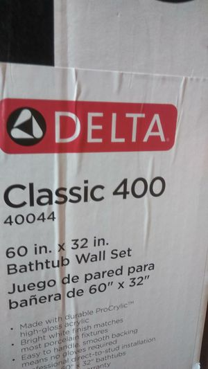 Brand new delta tud and tub wall