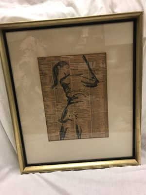 Gold Framed Art Work from DC Competition