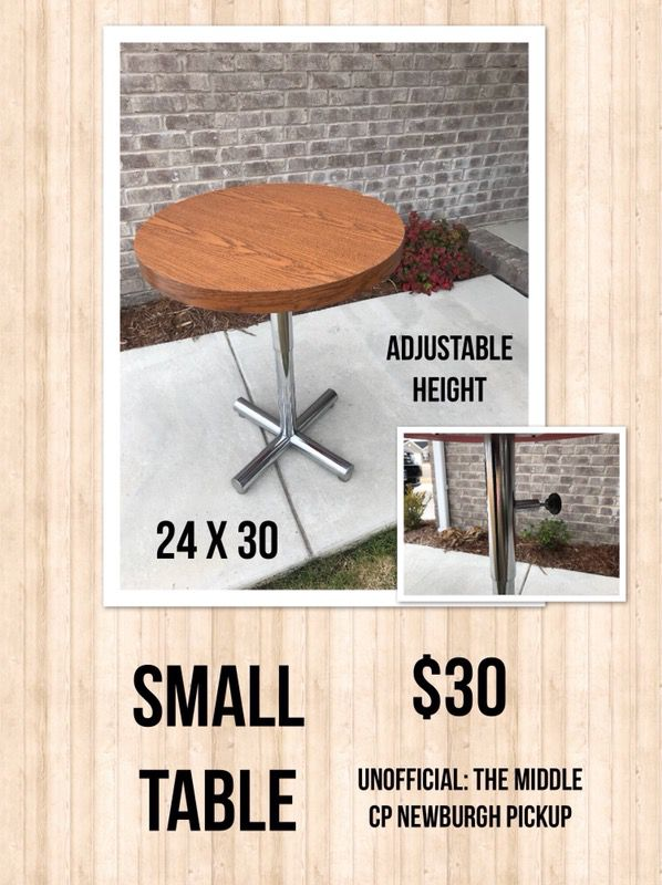 small adjustable height table (furniture) in newburgh, in - offerup