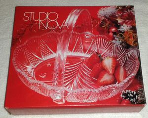 Glass CHRISTMAS BOWL by Studio Nova NIB
