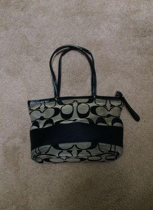 Coach Classic Handbag Black/Grey