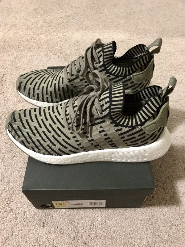 adidas NMD R2 Olive Kicks On Fire