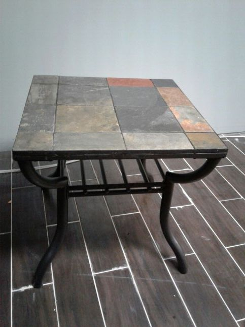 Black Iron Slate Tile Coffee And End Table Furniture In Bloomingdale Il Offerup