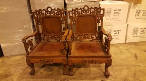 Two antique Chinese empire chairs